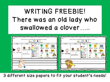 WRITING FREEBIE: There was an OLD LADY who swallowed A CLOVER