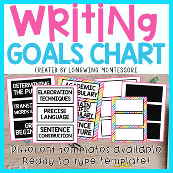 WRITING GOALS CHART