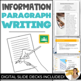 INFORMATION PARAGRAPH WRITING Digital Informational Writin