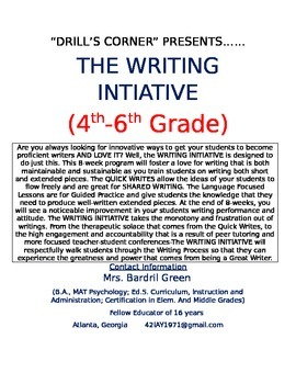 WRITING INITIATIVE