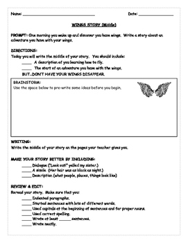 SBAC PREP  NARRATIVE WRITING PROMPTS: INTERMEDIATE