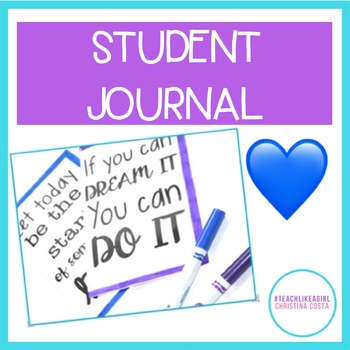 WRITING JOURNAL FOR STUDENTS - GIFT, IN CLASS, or PERSONAL! 50 PROMPTS