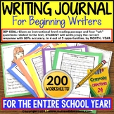 "WRITING JOURNAL ""Wh"" Prompts BUNDLE with DATA For Special Education and Autism"