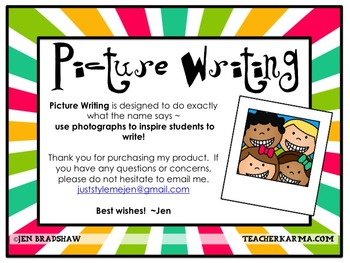 WRITING KIT #3 ~ Picture Writing ~ Photos  ~ Activities ~ Inspiration