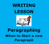 PARAGRAPHING:  Interactive Writing Unit