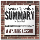 FREE WRITING LESSON: Writing A Summary