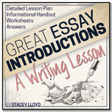 WRITING LESSON: Writing Introductions