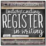 WRITING LESSON: Understanding Register In Writing