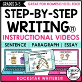 WRITING MINI-LESSON VIDEOS FOR PARAGRAPH AND ESSAY WRITING