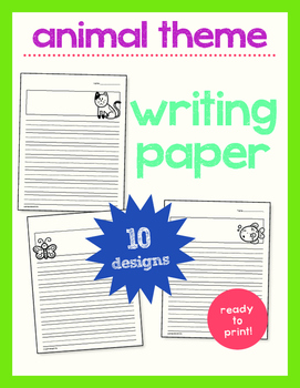 WRITING PAGES - ANIMALS!