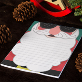 WRITING PAPER: Christmas Sant Clause Writing Paper Set - 4 Sets