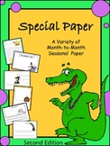 WRITING PAPER - OVER 40 Month to Month Printables (SECOND EDITION)