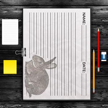 WRITING PAPER: Rabbit *FREEBIE*