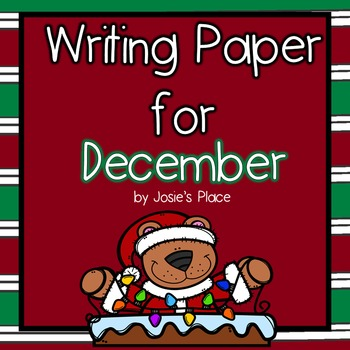 WRITING PAPER FOR DECEMBER
