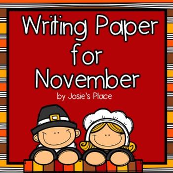 WRITING PAPER for NOVEMBER