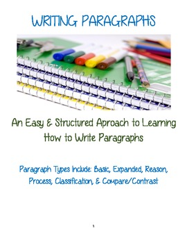 WRITING PARAGRAPHS: An Easy & Structured Approach to Parag