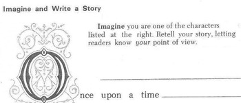 WRITING POINT-OF-VIEW PROMPT Students write about 1 fairy tale character in list