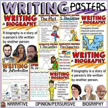 WRITING POSTERS: NARRATIVE; OPINION-PERSUASIVE; BIOGRAPHY