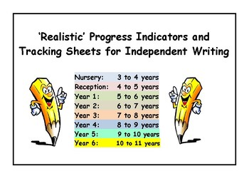 WRITING PROGRESS INDICATORS / TRACKING SHEETS