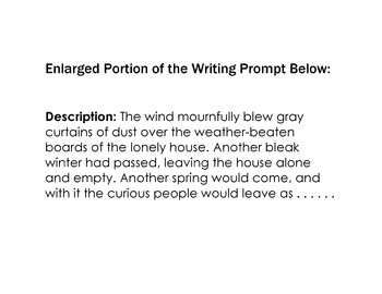 WRITING PROMPT: Photo - Description - Vocabulary - Picturing - Questions - Task