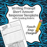 WRITING PROMPT TEMPLATE WITH RUBRIC