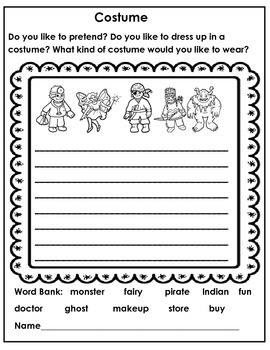 WRITING PROMPTS  TO BEGIN THE YEAR - 2ND GRADE