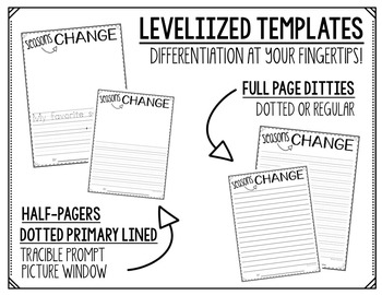 WRITING PROMPTS & LEVELIZED TEMPLATES (FALL)