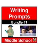 Paragraph Writing Prompts - Middle School   Bundle 1   ELA/Lit.   Ten Assignment
