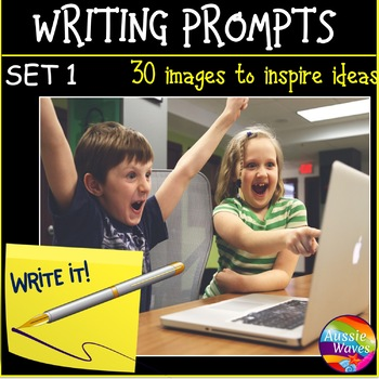 WRITING PROMPTS Task Cards IMAGES to Stimulate ideas SET 1
