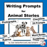 CREATIVE Writing Prompts | ANIMAL Stories|Tips | Word Banks| Rubrics | Checklist