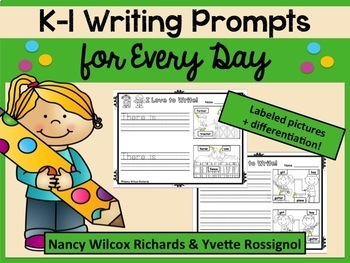 WRITING PROMPTS for the Whole Year BUNDLE No Prep K-1