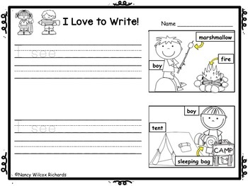 WRITING PROMPTS for K-1: Spring, Summer