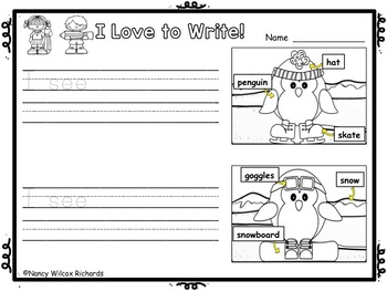 WRITING PROMPTS for K-1: Winter Fun