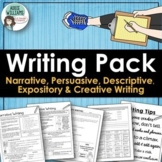WRITING - Persuasive, Narrative, Expository & Descriptive Writing Activities