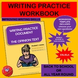 Guided Writing Opinion Text Writing Practice Workbook
