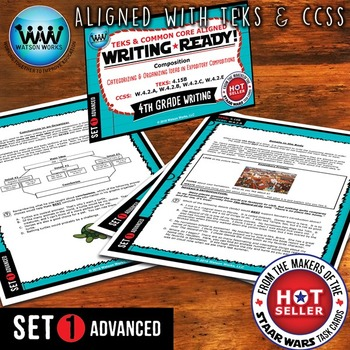 WRITING READY 4th Grade Task Cards- Categorizing/Organizing Ideas~ADVANCED SET 1