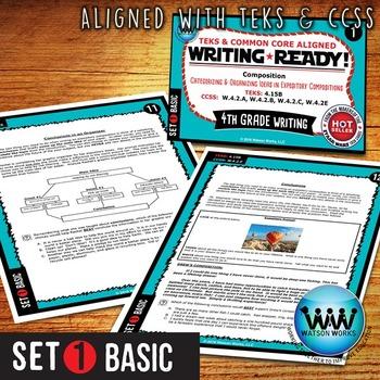 WRITING READY 4th Grade Task Cards - Categorizing/Organizing Ideas ~ BASIC SET 1