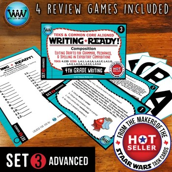 WRITING READY 4th Grade Task Cards - Editing Drafts ~ ADVA