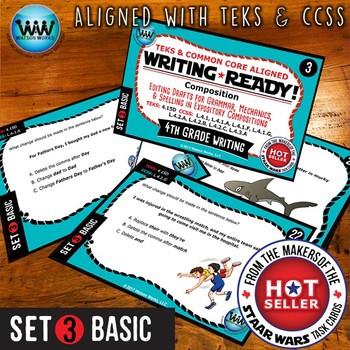 WRITING READY 4th Grade Task Cards - Editing Drafts ~ BASIC SET 3