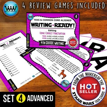 WRITING READY 4th Grade Task Cards - Using Correct Punctuation ~ ADVANCED SET 4