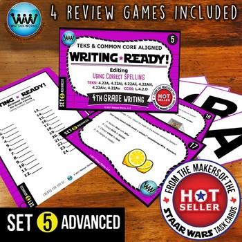 WRITING READY 4th Grade Task Cards - Using Correct Spellin