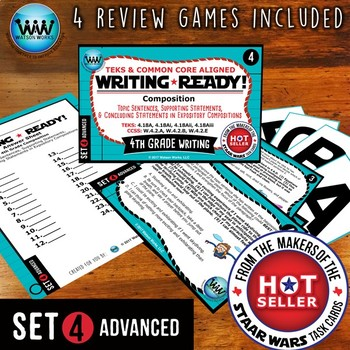 WRITING READY 4th Grade: Topic, Supporting & Concluding Statements ~ADVANCED 4