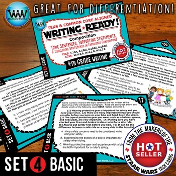 WRITING READY 4th Grade: Topic, Supporting & Concluding Statements ~ BASIC SET 4