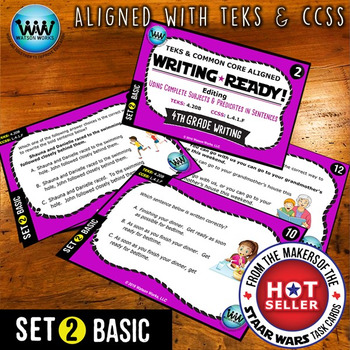 WRITING READY Task Cards: Complete Subjects & Predicates in Sentences BASIC 2