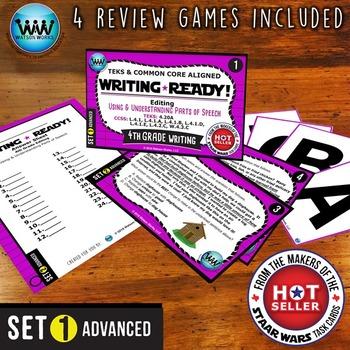 WRITING READY Task Cards: Using & Understanding Parts of Speech ~ ADVANCED SET 1
