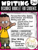 WRITING RESOURCE BOOK: 2nd - 3rd Grade