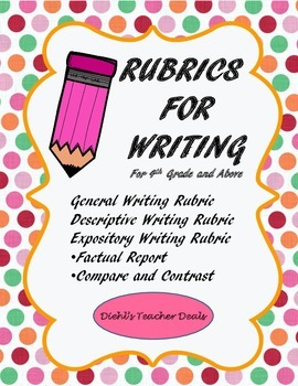 WRITING RUBRICS for All Year