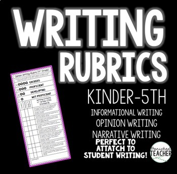 WRITING RUBRICS (ALL GENRES) K-5