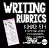 WRITING RUBRICS (ALL GENRES) K-5