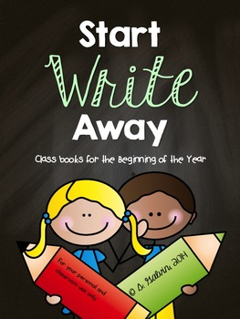 WRITING Start Write Away (Back to School) Class Books
